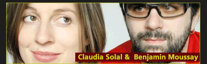 Claudia Solal et Benjamin Moussay