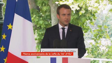 """VIDEO. """"C'est bien la France qui organisa la rafle"""" du Vél' d'Hiv, déclare Macron, 75 ans après le drame"""