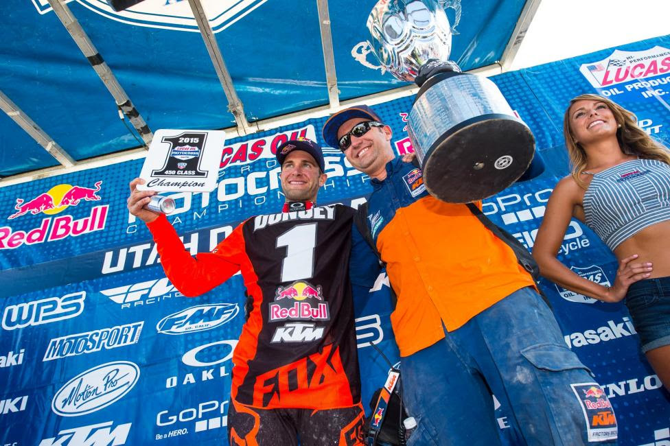 Dungey captured his third 450 Class title during the 2015 season.Photo: MX Sports Pro Racing / Simon Cudby