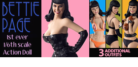 BETTIE PAGE FIGURE AND ACCESSORIES