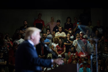 Donald J. Trump speaking in Sarasota, Fla., on Nov. 7. By one analysis, the 2,584 counties where Mr. Trump won generate only 36 percent of America's economic activity.
