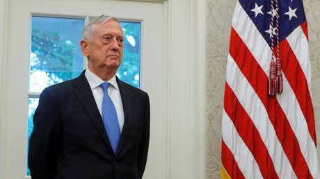 Jim Mattis en la Oficina Oval de la Casa Blanca en Washington, EE.UU., el 30 de julio de 2018.