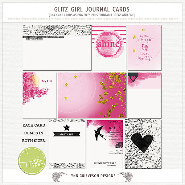 Glitz girl cards (enable images to view)