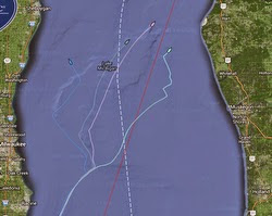 J/111 tracks in Mackinac Race