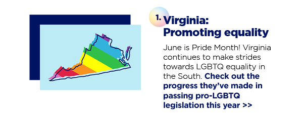 1. Virginia: Promoting equality