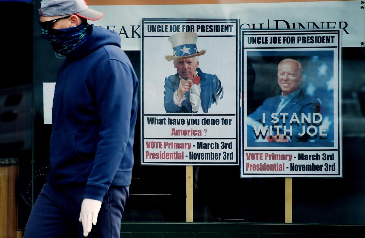 Cheesy Biden posters