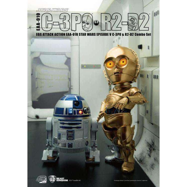 Image of Star Wars Egg Attack Action EAA-010 C-3PO & R2-D2 (Empire Strikes Back)
