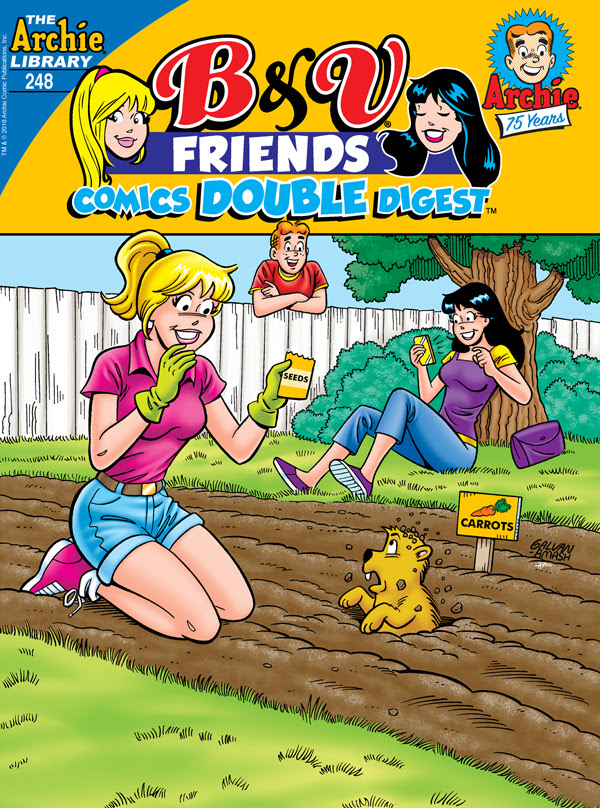 B&V Friends Comics Double Digest #248 cover by Bill Galvan