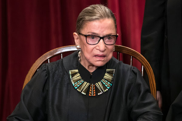 Justice Ruth Bader Ginsburg of the Supreme Court.