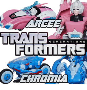 TRANSFORMERS GENERATIONS DELUXE - ARCEE & CHROMIA