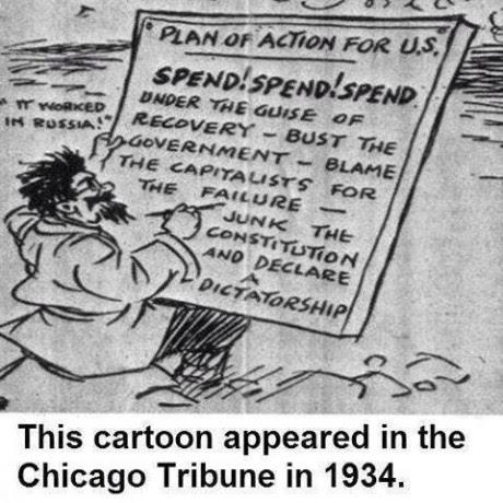 Chicago Tribune Cartoon 1934