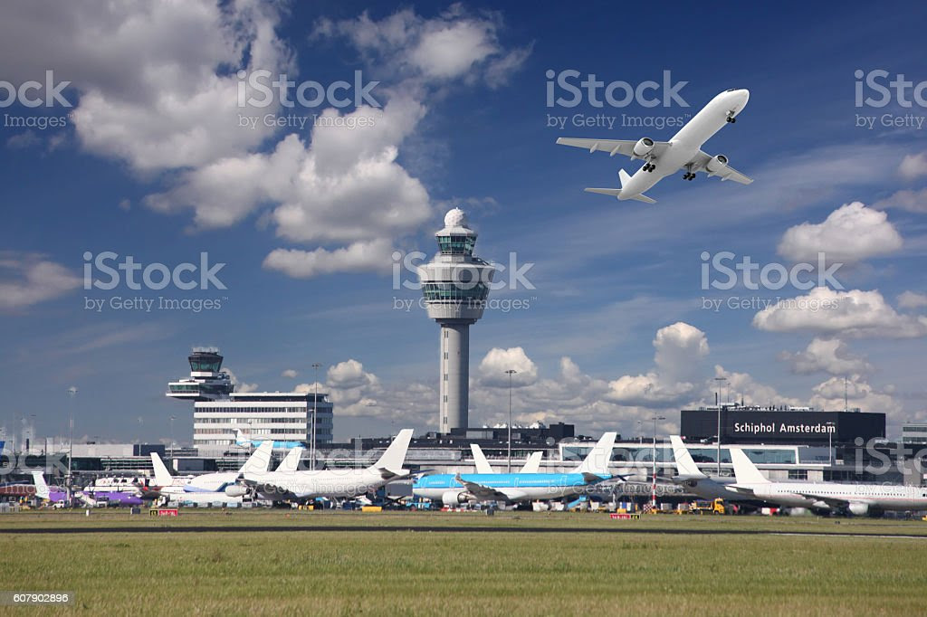 Amsterdam airport Schiphol, Netherlands - Royalty-free Luchthaven Schiphol Stockfoto