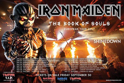 Iron Maiden On Tour banner