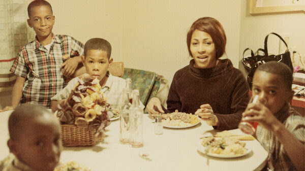 Tina Turner and her children, photographed in 1967.