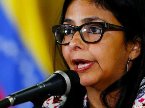 La ministra del Poder Popular para las Relacionas Exteriores, Delcy Rodríguez.