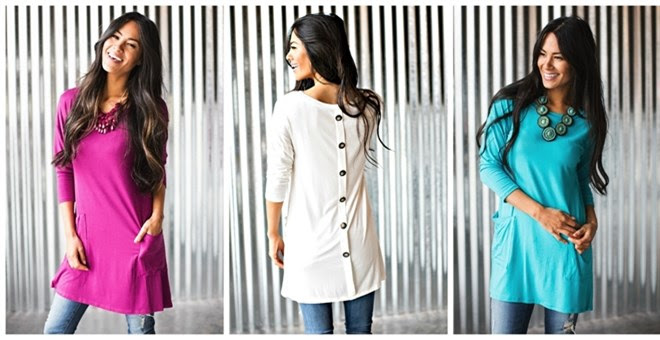 *HOT* Button Back Pocket Tunic...