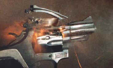 Image result for blown up guns