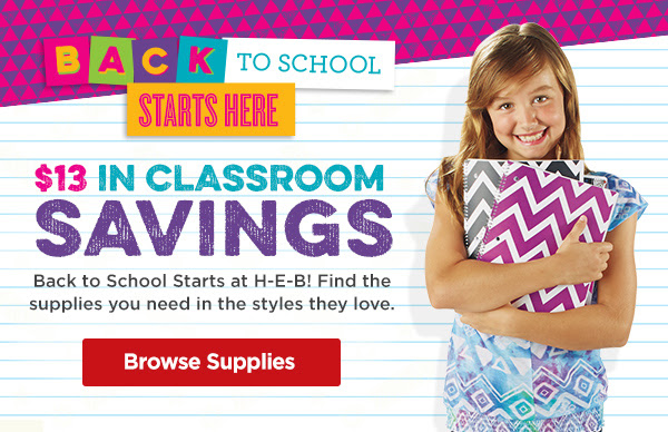 $13 off School and Classroom Supplies