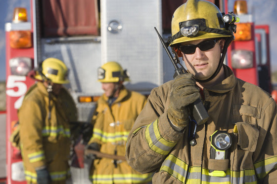 firefighter w/radio