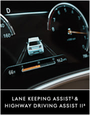 Lane Keeping Assist (see footnote 2) & Highway Driving Assist II (see footnote 3)