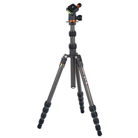 Punks Anarchy Brian Carbon Fiber 5-Section Travel Tripod with AirHed Neo Ballhead, 74