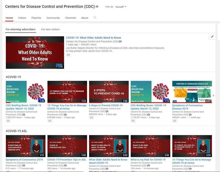 COVID-19 YouTube Playlist Screnshot
