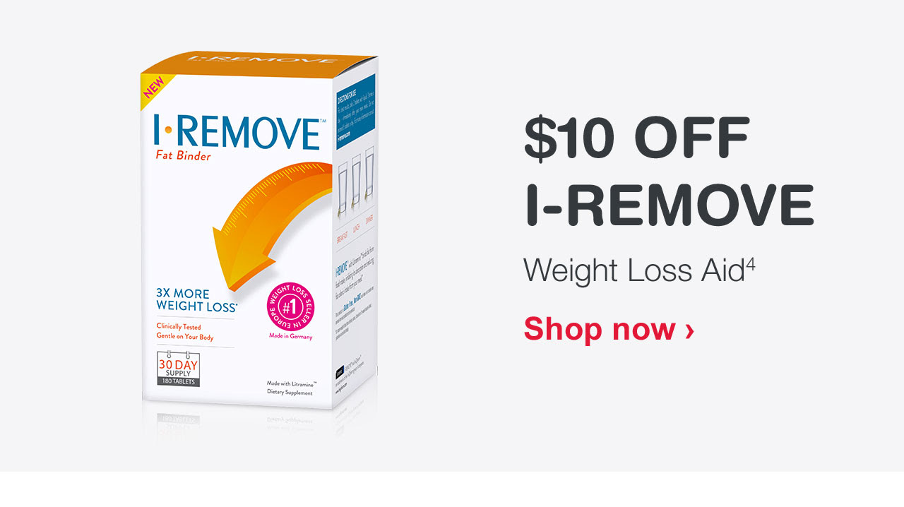 $10 OFF I-REMOVE Weight Loss Aid