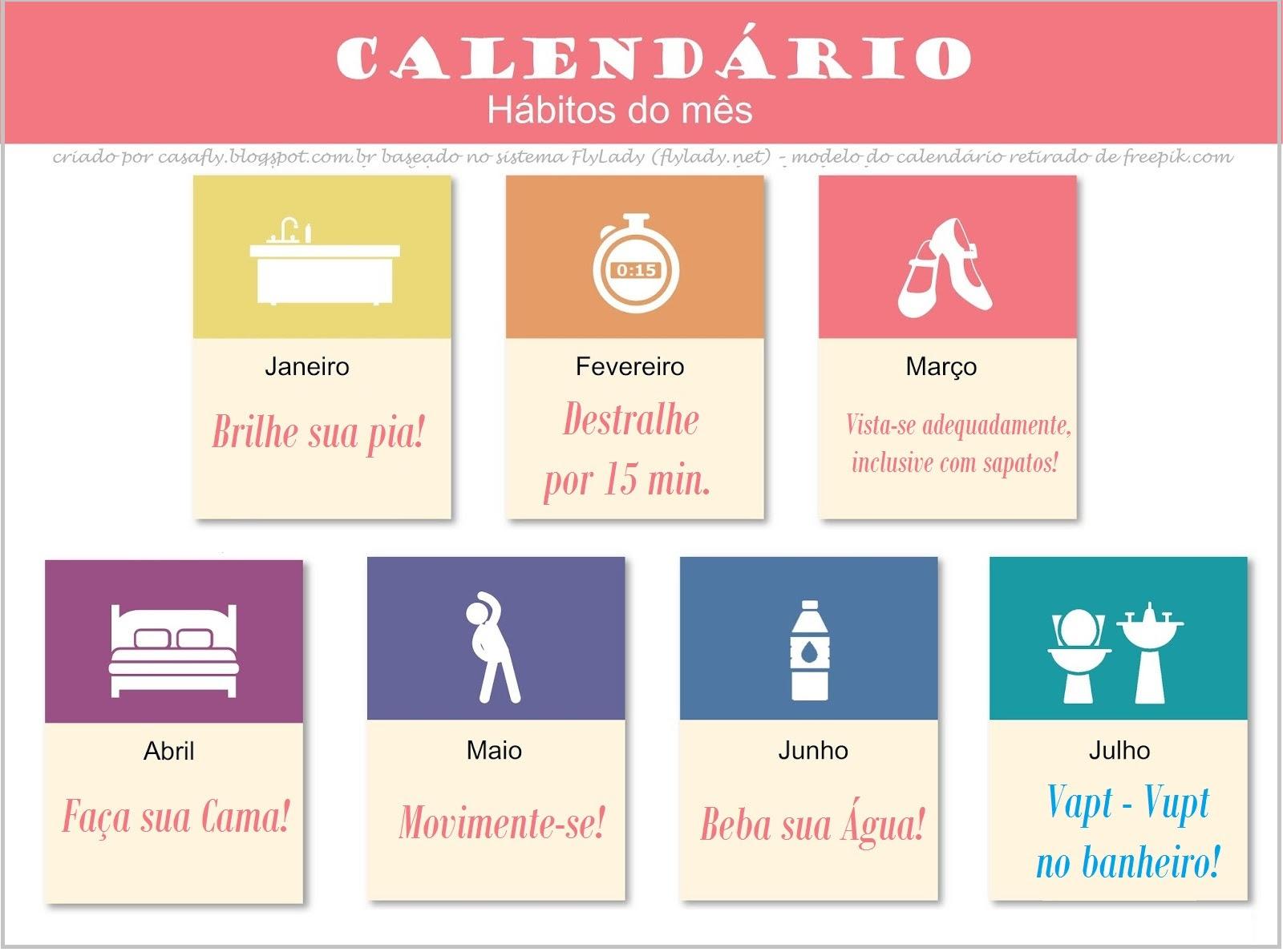 Calendario Flylady.Espiadinha Da Semana 02 A 07 De Julho De 2018 Casa Fly