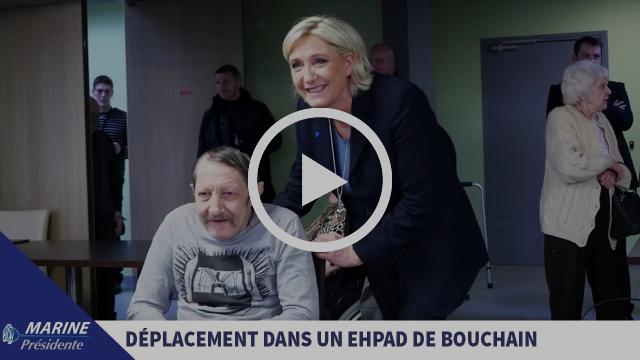 Vieillesse et dépendance : Marine visite un EHPAD modèle à Bouchain dans le Nord (27/01/2017)