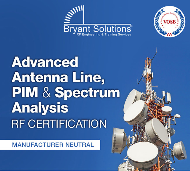 Bryant Solutions Advanced Antenna Line, PIM & Spectrum Analysis RF Certification