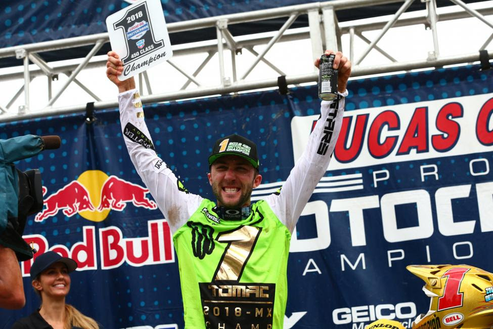 Tomac is the first rider to win back-to-back titles since Ricky Carmichael in 2005-2006.