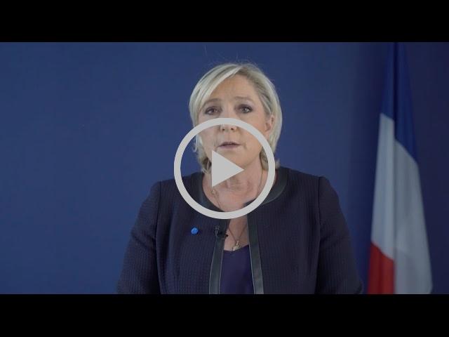 Marine Le Pen réclame l'interdiction du rassemblement des islamistes radicaux de l'UOIF