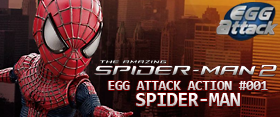 EGG ACTION ATTACK #001 THE AMAZING SPIDER-MAN 2 - SPIDER-MAN