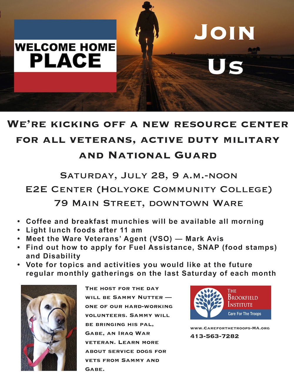 Welcome Home Place flier