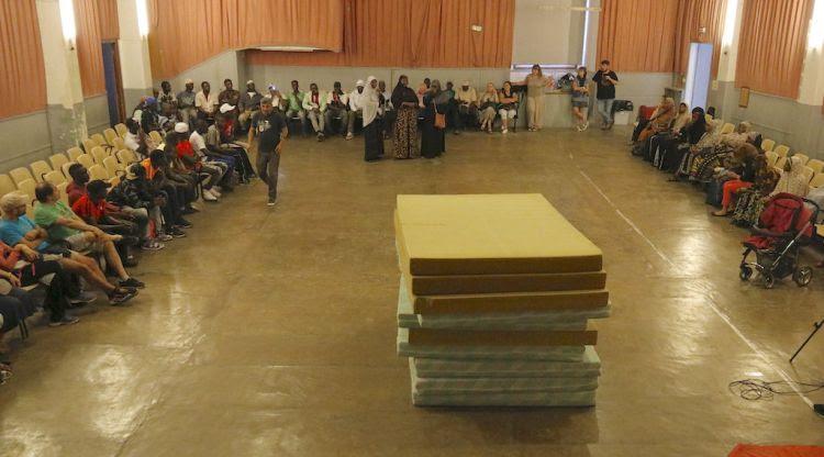 Un instant de l'assemblea de la tancada de Blanes. ACN