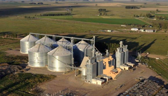 Vista de la planta de arroz de COOPAR