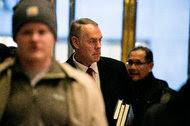 Representative Ryan Zinke, Republican of Montana, at Trump Tower in Manhattan on Monday.