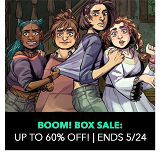 BOOM! Box Sale: up to 60% off! Sale ends 5/24.