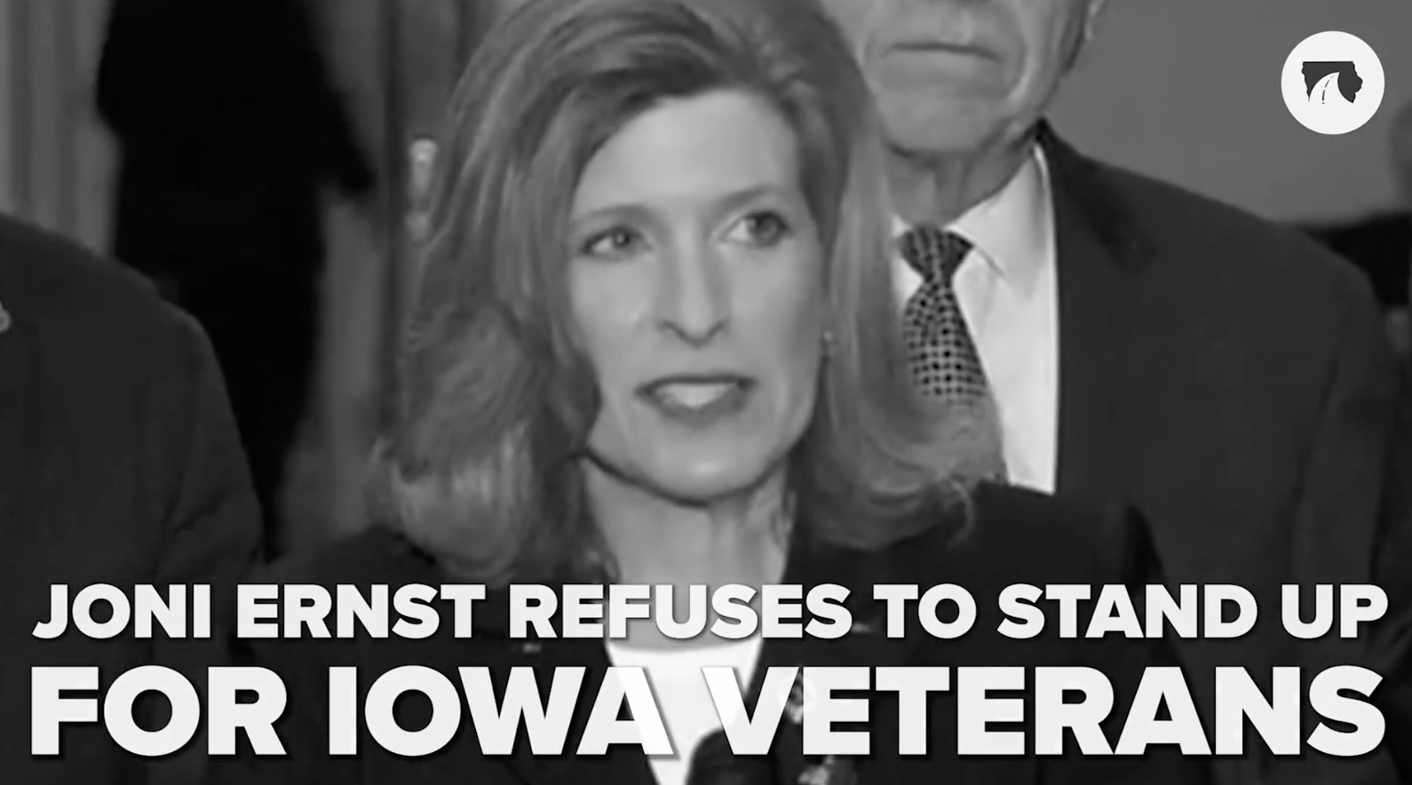 Joni Ernst Video - She Refuses To Stand For Iowa Veterans