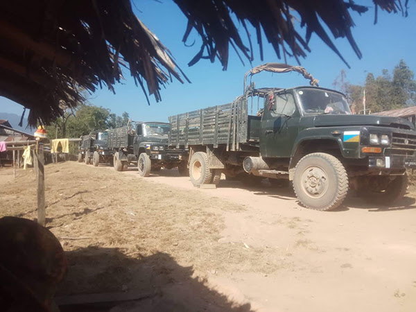 xe tải cung cấp Miến Điện Army