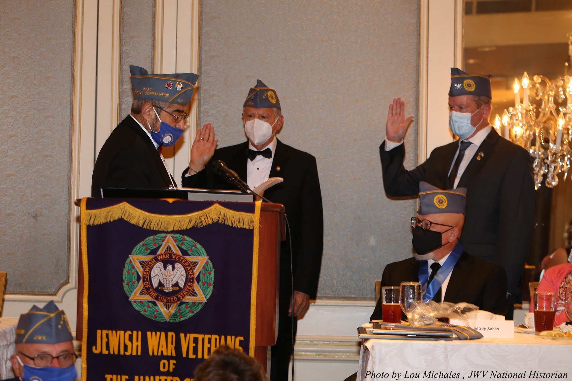 Swearing in of new National Commander Alan Paley and Vice Commander Nelson Mellitz