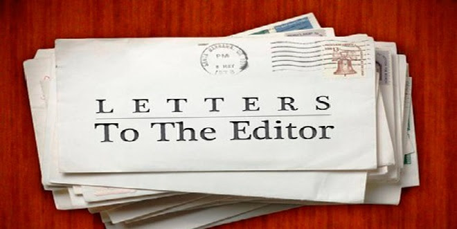 Photo of a stack of envelopes with Letters to the editor stamped at the top