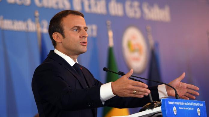"""VIDEO. """"Nous devons avec constance, détermination, éradiquer"""" les terroristes, lance Emmanuel Macron au Mali"""