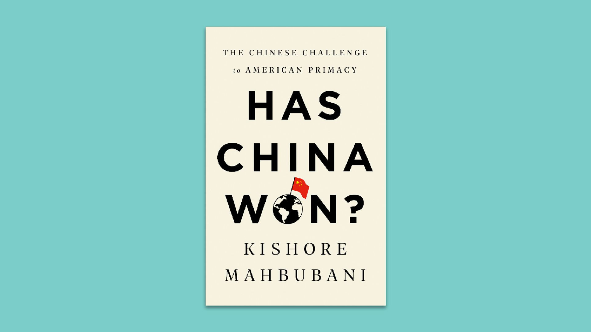 The cover of Kishore Mahbubani's book