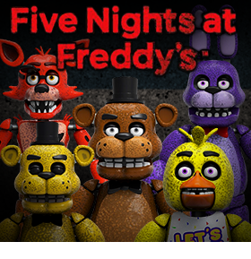 FIVE NIGHTS AT FREDDYS ARTICULATED FIGURE SET OF 5