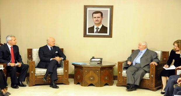 SIRIA: Canciller sirio recibe a enviado especial de la ONU y debatió sobre la declaración final de la reunión de Viena