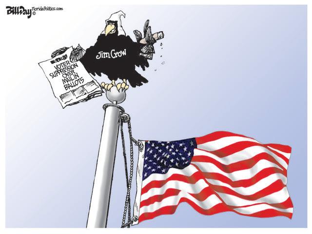 JIM CROW, STATES, VOTING, MAIL IN BALLOTS, GOP, LEGISLATURES, RACISM