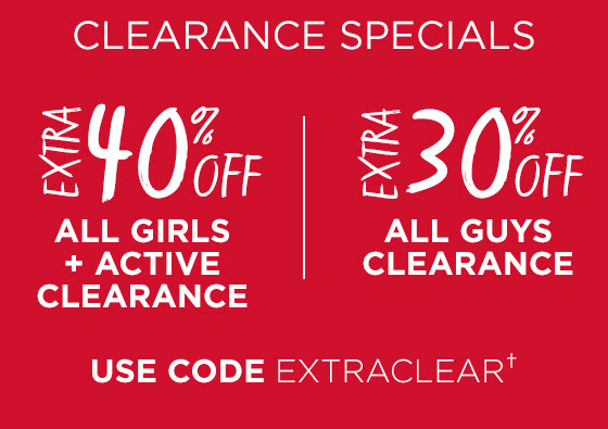 Extra 30-40% Off Clearance Shop Now
