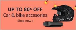 Up to 80% off on car & bike accessories