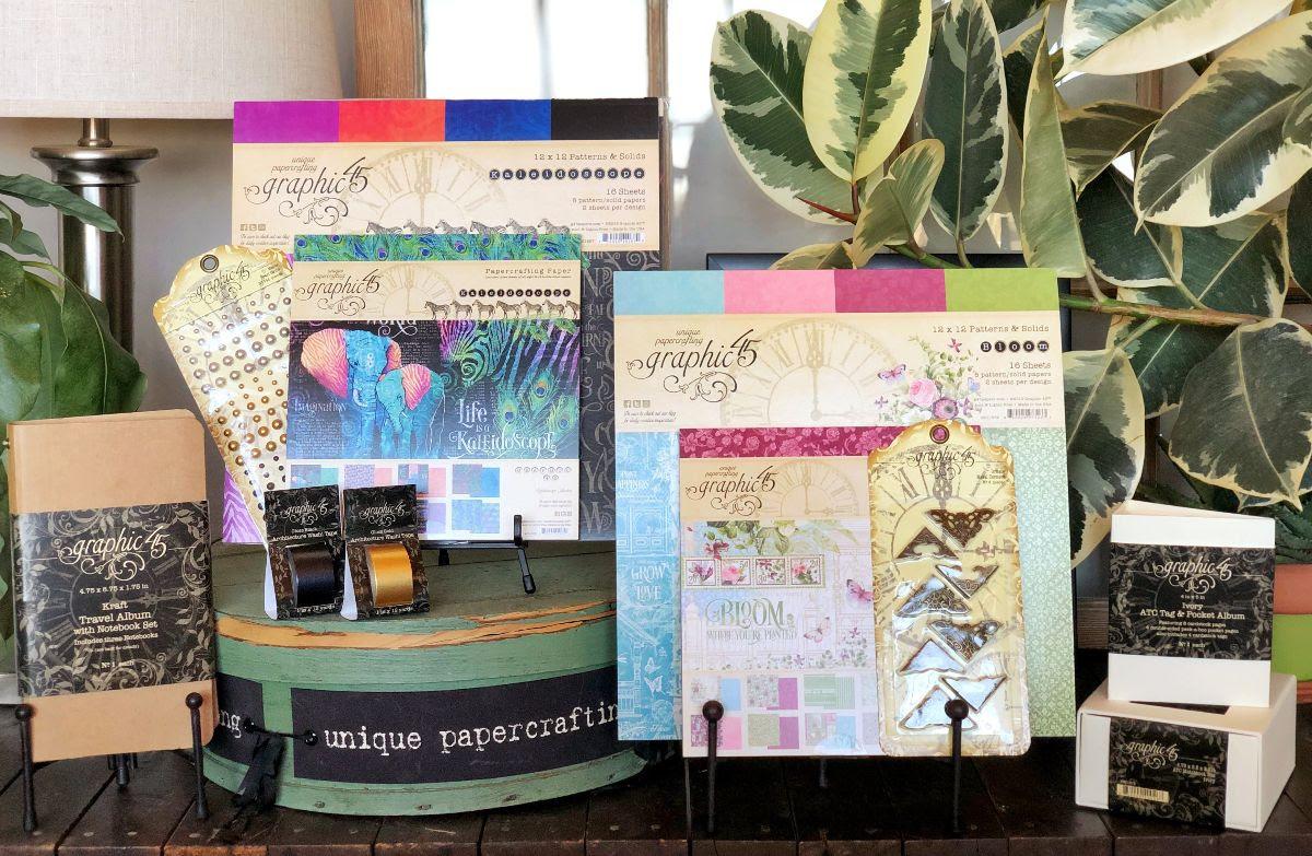 Graphic 45, Winter 2019, Kaleidoscope, Bloom, Staples